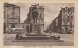 TORINO - VIA PO E VIA GIUSEPPE VERDI - 1936 - TRAM - Places