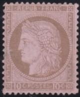 France      .    Yvert    .   54  (2 Scans)  Aminci        .         (*)      .      Pas De Gomme  .   /  .   No Gum - 1871-1875 Ceres