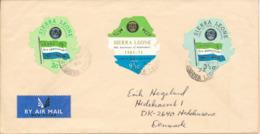 Sierra Leone Cover Sent To Denmark 6-4-1972 (see The Stamps) - Sierra Leone (1961-...)