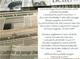 John Lennon / Beatles : Lot De 7 Articles (revues-suppléments-coupures De Presse) - Music & Instruments