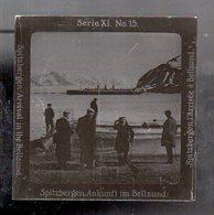 AK-2693/ Spitzbergen Ankunft In Bellsund  Norwegen Altes Glasnegativ Ca.1900/10 - Noorwegen