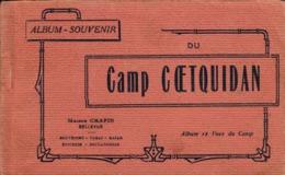 Thematiques 56 Morbihan Militaria Camp De Coëtquidan Maison Chapin Bellevue Carnet 12 Vues Album Souvenir Complet - Guer Coetquidan
