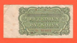 5 Corone 5 Korun 1961 Pèt Korun Cecoslovacchia Ceskoslovenska Socialisticka Republika - Czechoslovakia