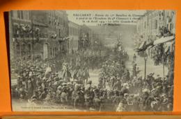 Baccarat - Entrée Du 17è Bataillon De Chasseurs à Pied Et De L'escadron Du 4è Chasseurs à Cheval , Le 16 Avril 1914  - 1 - Baccarat