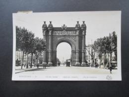 Spanien 1930er Jahre Echtfoto AK Barcelona Arc Del Triomf Marken Handschriftlich Entwertet! Nach Deutschland Gesendet - 1931-50 Briefe U. Dokumente