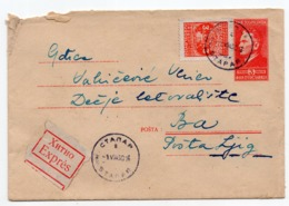 1950 FNR YUGOSLAVIA, SERBIA, STAPAR TO BA, 3 TPO AT THE BACK, NO160, 19 AND 8, EXPRESS MAIL, STAMP IMPRINTED COVER - Entiers Postaux