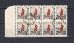1957 Poland Polen: Mi.1032,Fi.887, O Gestempelt Vollstempel, Bogenteil (8 Bfm) Lenin, Oktober-Revolution, S. Scan - 1944-.... Republik