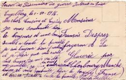 Service Des Prisonniers En Suisse 1916 - Carte Postale Engelberg - Ski Wintersport - 2 Scans - Postmark Collection (Covers)