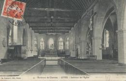 DPT  28 Lèves Intérieur De L'Eglise CPA TBE 1915 - Lèves