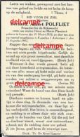 Oorlog Guerre Bernard Polfliet Laarne Rijkswacht Gendarmerie Gesneuveld Neergeschoten Tijdens Controle Te Kapellen 1942 - Images Religieuses