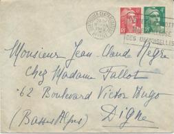 LETTRE 1948 AVEC 2 TIMBRES AU TYPE GANDON - Marcophilie (Lettres)