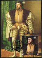 LUXEMBOURG (2019) - Carte Maximum Card - Kaiser Karl V / Charles V / Charles Quint, Portrait Avec Chien / Carlos I - Maximum Cards