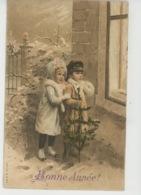 """ENFANTS - LITTLE GIRL - MAEDCHEN - Jolie Carte Fantaisie Enfants Avec Sapin De """"Bonne Année """" - Neujahr"""