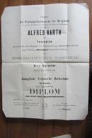 Diplôme D'ingénieur Des Mines De Alfred Harth à La Petite Rosselle En 1906, Originaire De Sarre-Union - Diplomas Y Calificaciones Escolares