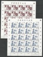 20x FOROYAR - MNH - Europa-CEPT - Famous People - 1983 - Folded Sheets - 1983