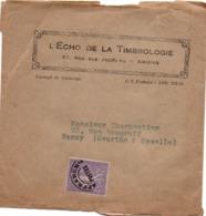 Semeuse Préoblitéré 45 Cts Sur Bande Journal - écho De La Timbrologie - Postmark Collection (Covers)
