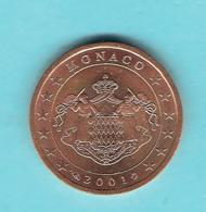MONNAIE DE 2 EURO CENT MONACO 2001 - Monaco