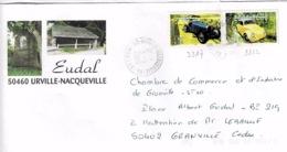 TP N°3317 Et 3322 Sur Enveloppe Illustrée De Urville Nacqueville - Poststempel (Briefe)