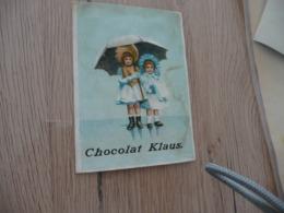 Chromo Ancien Chocolat Klaus Enfants Pluie Parapluie - Altri