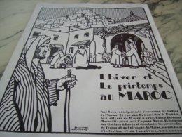 ANCIENNE PUBLICITE L HIVER ET PRINTEMPS AU  MAROC 1929 - Publicité
