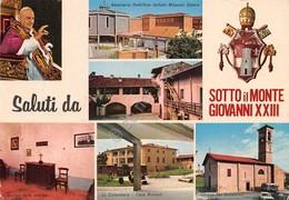 Cartolina Sotto Il Monte Giovanni XXIII Vedute Papa Timbro Casa Natale 1981 - Bergamo