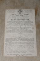 Aalst Principaal Groot College Constant Guillaume Van Crombrugghe  Doodsprentje +1865 - Religion & Esotérisme