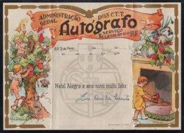 POUPEES - NOUNOURS - JEUX - JOUETS - NOEL / PORTUGAL ANCIEN TELEGRAMME ILLUSTRE (ref 5539) - Puppen