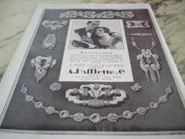ANCIENNE PUBLICITE ANNIVERSAIRE JOAILLIER PAILLETTE  1929 - Juwelen & Horloges