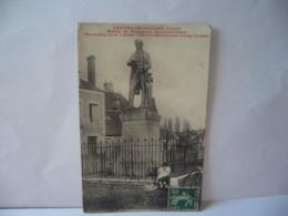CHATILLON COLIGNY 45 LOIRET STATUE DE BECQUEREL PHYSICIEN NE LE 7 MARS 1788 A CHATILLON SUR LOING CPA 1909 - Chatillon Coligny
