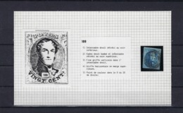 N°7 (plaat III Positie 109) GESTEMPELD MET 4 MARGES P72 Leuze COBA € 6,00 SUPERBE - 1851-1857 Medallions (6/8)