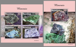 MOZAMBIQUE 2019 MNH Minerals Mineralien Mineraux M/S+S/S - OFFICIAL ISSUE - DH1944 - Minerali