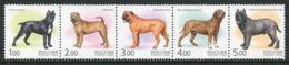 RUSSIA 2002 Dogs: Mastiffs MNH / **.  Michel 971-75 - Ungebraucht