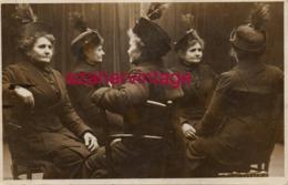 SURREALISME : Carte Photo Surréaliste - Le Même Femme En 5 Exemplaires, Magnifique - Fotografía