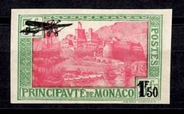 Monaco Poste Aérienne YT N° 1 Non Dentelé Neuf *. B/ TB. A Saisir! - Airmail