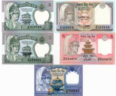 NEPAL // Set Of Five Note // UNC - Nepal