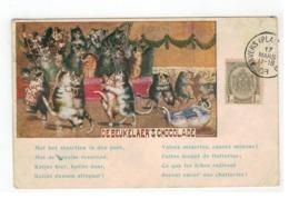 DE BEUKELAER'S CHOCOLADE  Anvers 1908   Katjes Hier,katjes Daar... - Reclame