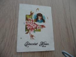Chromo Ancien Chocolat Klaus Femme Fleurs - Altri