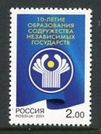 RUSSIA 2001 Commonwealth Of Independent States MNH / **.  Michel 949 - 1992-.... Federazione