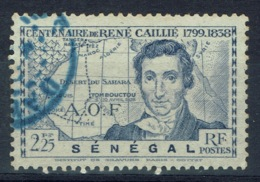 Senegal (French Colony), 2f.25, René Caillé, French Explorer Of Timbuktu, 1939, VFU Blue Postmark - Used Stamps