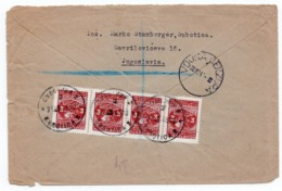 21.12.1945. YUGOSLAVIA, SERBIA, REGISTERED LETTER, SUBOTICA TO LONDON, UK, MILITARY COVER, CENSORED - 1945-1992 République Fédérative Populaire De Yougoslavie