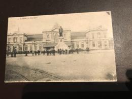Leuven - Louvain -  De Statie La Gare Station Bahnhof  Sylvain Van De Weyer - Gebruikt Als Feldpost-karte 1914-1918 - Leuven