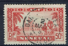 Senegal (French Colony), 50c., Mosque, Diourbel, 1935, VFU - Used Stamps