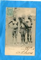 East Africa And Uganda-MOMBASA- -kavirando Group--guerrier Et Femme Seins Nus-gros Plan-a Voyagé En 1906- - Ouganda