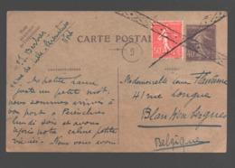 Carte Postale Avec Marque Rare - 13,8 X 8,7 Cm - Poststempel (Briefe)
