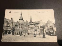 Leuven - Louvain -  Margaretaplaats En Post  - Gebruikt Als Feldpost-karte 1914-1918 - Leuven