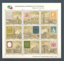 Italie, Bloc Feuillet, N° 1, N° 2, N° 3, Neuf **, Non Pliés, TTB, Italia 1985, Exposition Mondiale, Vues De Rome - 6. 1946-.. Republik