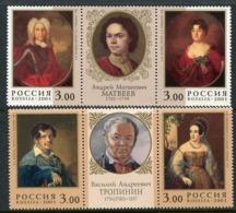 RUSSIA 2001 Artists Matveyev And Tropinin MNH / **  Michel 894-97 - 1992-.... Föderation