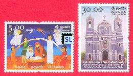 Sri Lanka Stamps 2008, Christmas, St. Mary's Cathedral, Kaluwella, Galle, MNH - Sri Lanka (Ceylon) (1948-...)