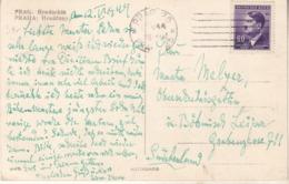 PRAHA : Hradéany Avec Timbre Allemand (Deutsches Reich) - Repubblica Ceca