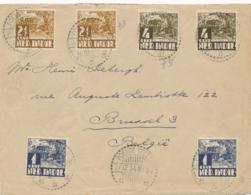 Nederlands Indië - 1934 - 6 Zegels Op Cover Van LB POELOE TELLO Naar Brussel / België - Nederlands-Indië